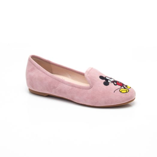 MICKEY MINNIE EMBROIDERY LOAFERS