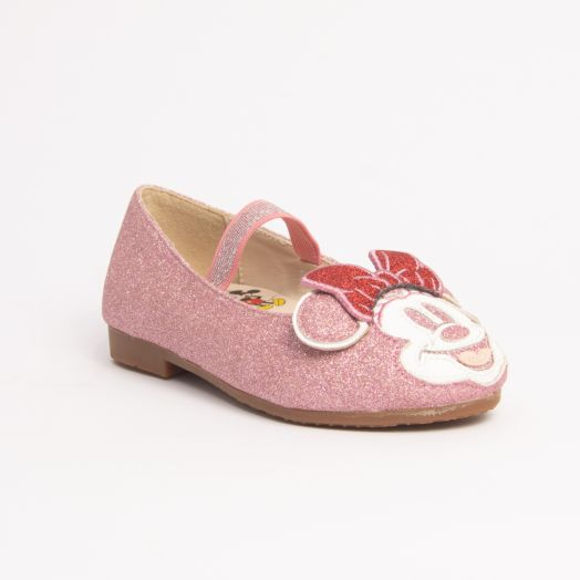 MINNIE HEAD GLITTER FLATS - KIDS
